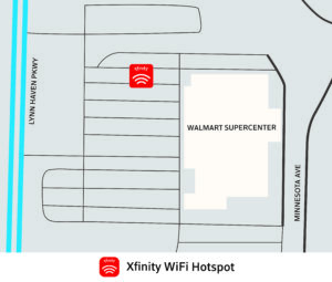 WiFi Van at Walmart Super Center map