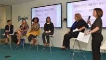 Presenters at the Women in Technology Panel event.
