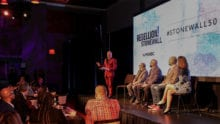 Presenters onstage at Rebellion! Stonewall at the Broward Center.